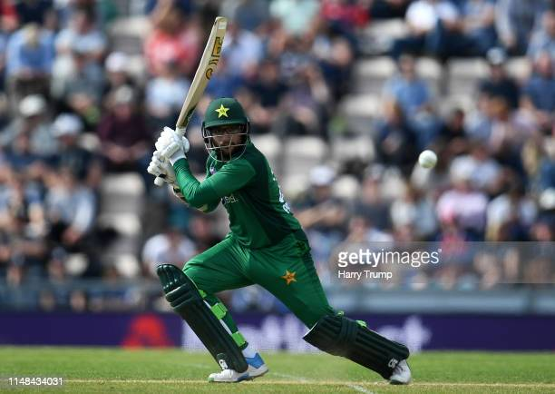 Imam UlHaq of Pakistan bats during the Second One Day International match between England and Pakistan at The Ageas Bowl on May 11 2019 in...