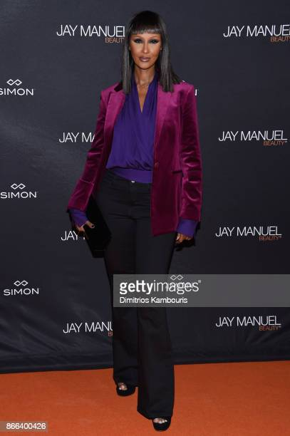 Iman Abdulmajid attends the Jay Manuel Beauty x Simon Launch Event at Highline Stages on October 25 2017 in New York City