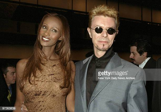 Iman and David Bowie are on hand for the 16th annual CFDA Awards Gala at the New York State Theater