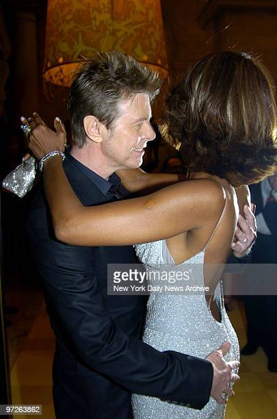 Iman and David Bowie at the 2005 CFDA Fashion Awards held at the New York Public Library
