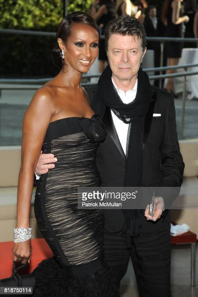 Iman and David Bowie attend 2010 CFDA Awards Arrivals at Alice Tully Hall on June 7 2010 in New York City