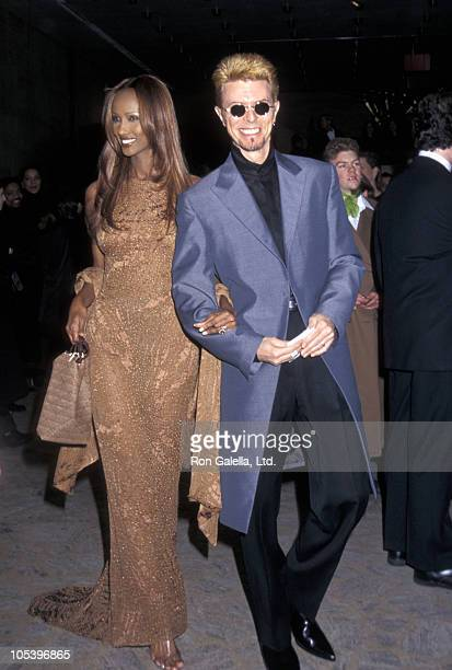 Iman and David Bowie during 16th Annual CFDA Awards Gala at New York State Theater at Lincoln Center in New York City New York United States