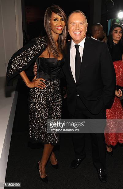 Iman and Designer Michael Kors attend God's Love We Deliver 2013 Golden Heart Awards Celebration at Spring Studios on October 16 2013 in New York City