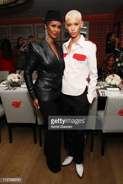 Iman and Dilone attend the InStyle Badass Women Dinner Hosted By Taraji P Henson And Laura Brown on February 02 2019 in New York City