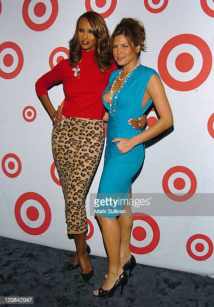 Iman and Eva Mendes during Eva Mendes Hosts Fete in LA to Celebrate the Release of 'The Beauty of Color' A New Book by Iman at Hollywood Roosevelt...