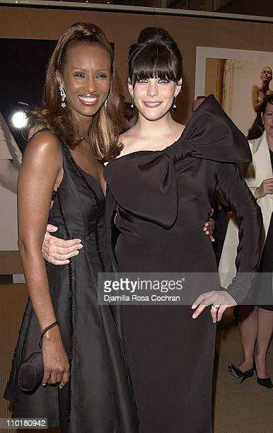 Iman and Liv Tyler during 'Audrey Hepburn The Beauty of Compassion' A Charity Auction To Benefit UNICEF at Sotheby's in New York City New York United...