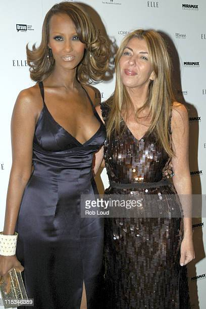 Iman and Nina Garcia during Elle Magazine Celebrates the Second Season of Project Runway December 7 2005 at Aer in New York City New York United...
