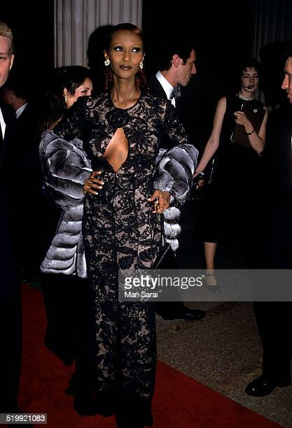 Iman at the Metropolitan Museum's Costume Institute gala exhibition New York New York December 6 1999