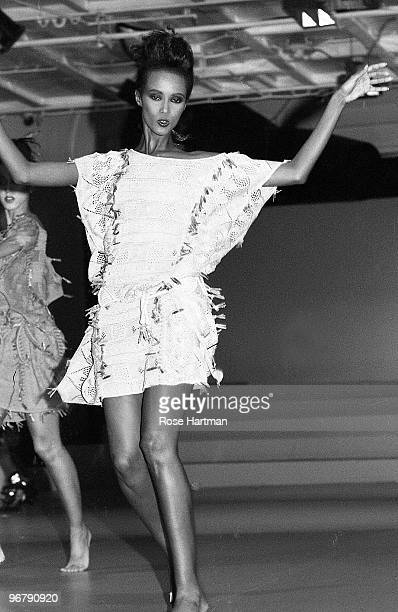 Iman at the Michael Vollbracht Fashion Show New York 1983