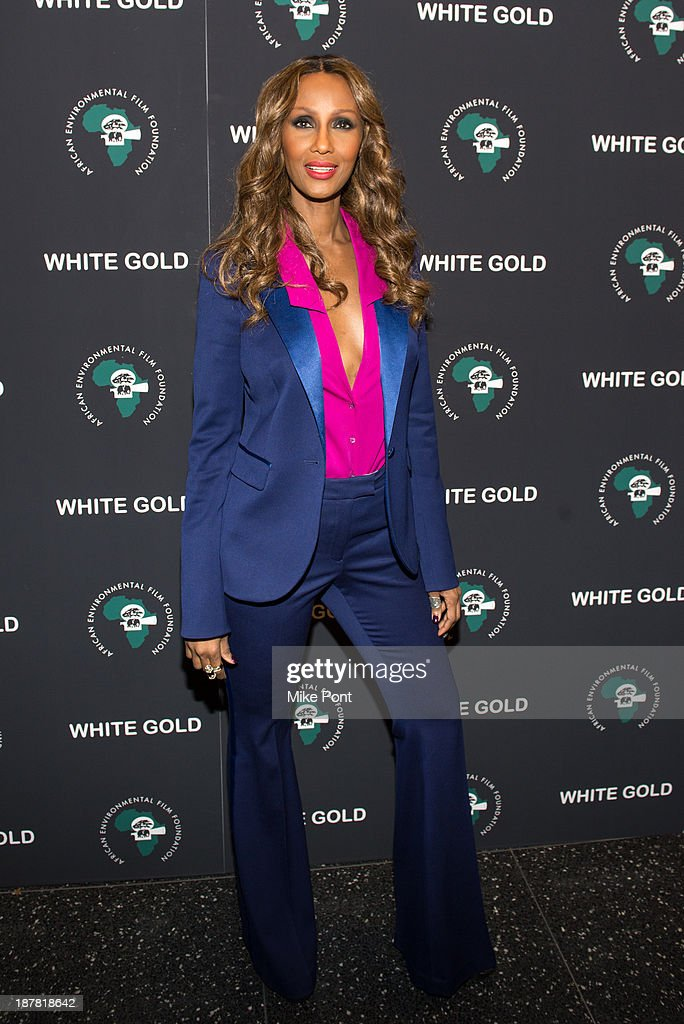 Iman attends a special screening of 'White Gold' at the Museum of Modern Art on November 12, 2013 in New York City.