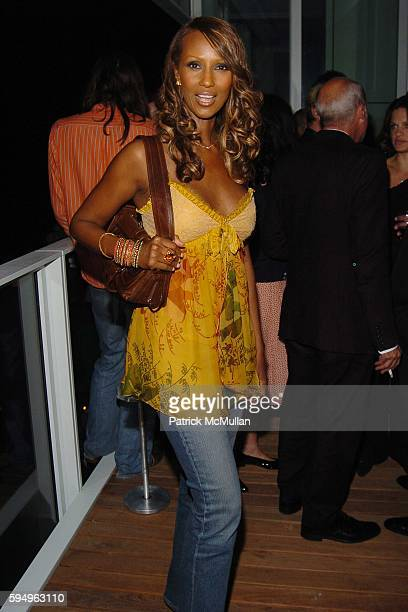 Iman attends Afterparty for DIOR THE CINEMA SOCIETY's screening of Hart Sharp Entertainment Miramax Films' Proof at 165 Charles St on September 14...