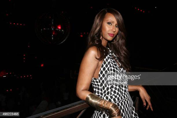 Iman attends Beth Ann Hardison's 2014 CFDA Award Celebration at Marquee on June 1 2014 in New York City