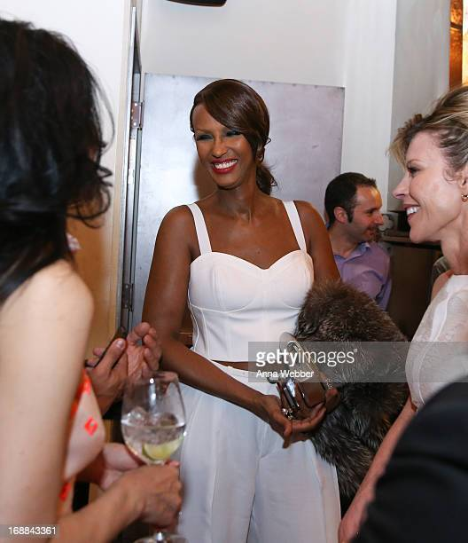 Iman attends ELLE Tod's Celebrate Kerry Washington at Il Buco Alimentari Vineria on May 15 2013 in New York City