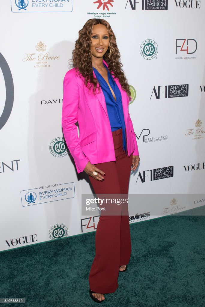Iman attends Fashion 4 Development's 7th Annual First Ladies Luncheon at The Pierre Hotel on September 19, 2017 in New York City.
