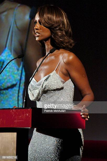 Iman attends The 2005 CFDA Fashion Awards at The New York Public Library on June 6 2005 in New York City