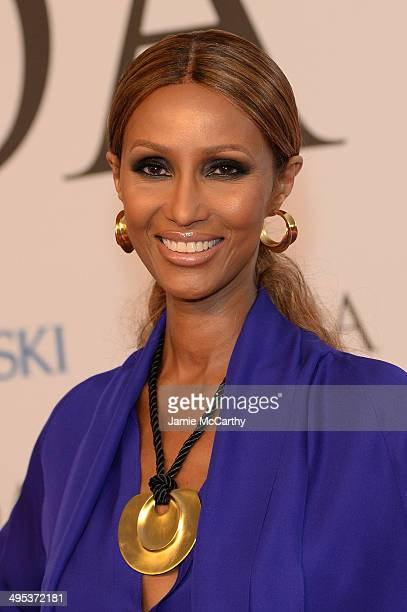 Iman attends the 2014 CFDA fashion awards at Alice Tully Hall Lincoln Center on June 2 2014 in New York City