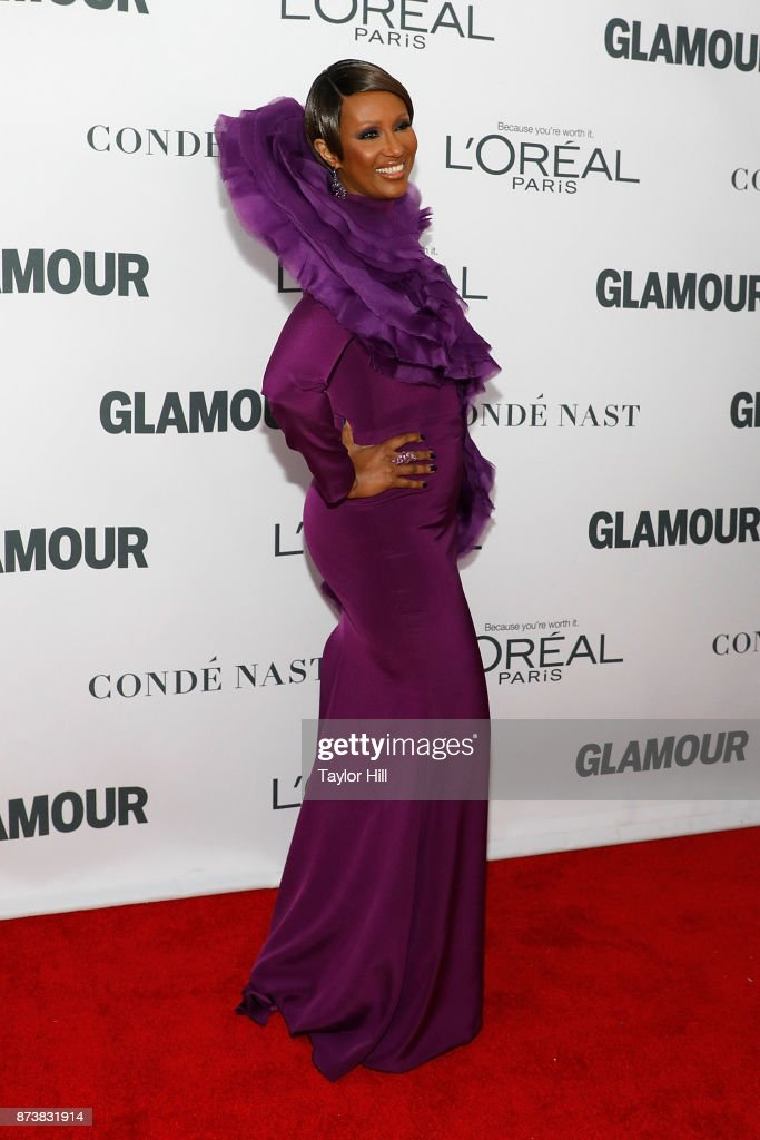 Iman attends the 2017 Glamour Women Of The Year Awards at Kings Theatre on November 13, 2017 in New York City.