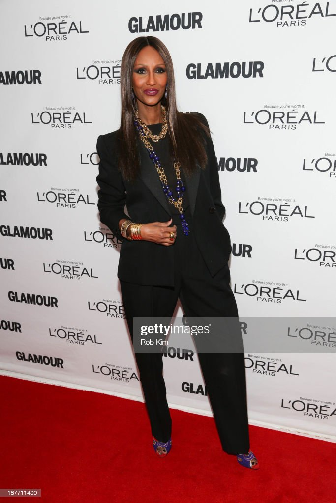 Iman attends the Glamour Magazine 23rd annual Women Of The Year gala on November 11, 2013 in New York, United States.
