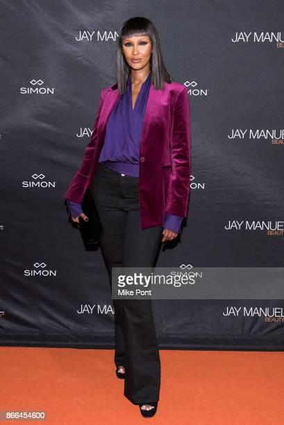 Iman attends the Jay Manuel Beauty x Simon launch event at Highline Stages on October 25 2017 in New York City