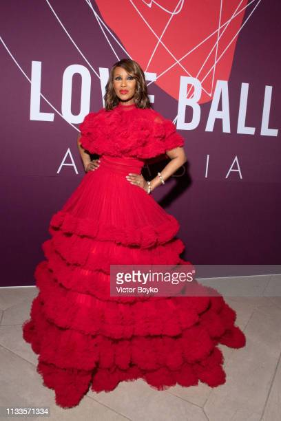 Iman attends the Love Ball in aid of the Naked Heart Foundation and Al Shafallah at Museum of Islamic Art on March 29 2019 in Doha Qatar