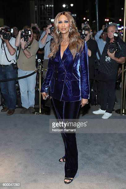 Iman attends Tom Ford fashion show during New York Fashion Week September 2016 at 99E 52d St on September 7 2016 in New York City
