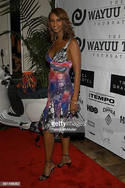 Iman attends Wayuu Taya Foundation Dinner at Tribeca Grand Hotel NYC USA on June 20 2005