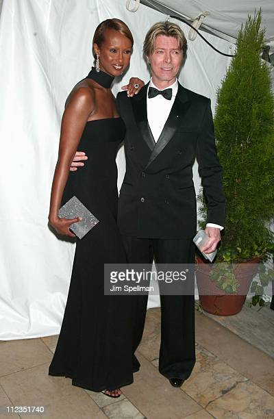 Iman David Bowie during 21st Annual CFDA Awards at NY Public Library in New York City New York United States