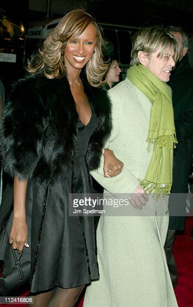 Iman David Bowie during 'Gangs of New York' World Premiere at Ziegfeld Theater in New York City New York United States