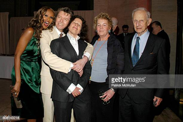 Iman David Bowie Fran Lebowitz Lucinda Franks and Robert Morgenthau attend VANITY FAIR Tribeca Film Festival Party hosted by GRAYDON CARTER and...