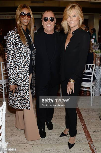 Iman designer Michael Kors and Patti Hansen attend The Couture Council of The Museum at the Fashion Institute of Technology hosted luncheon honoring...