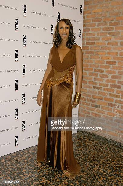 Iman during Alessandro Dell'Acqua Celebrates the Opening of his First US Flagship Store With Public Theater BashFashion on Stage at The Public...