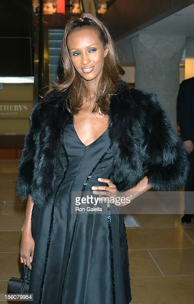 Iman during 'Audrey Hepburn: The Beauty of Compassion', A Charity Auction To Benefit UNICEF at Sotheby's in New York City, New York, United States.