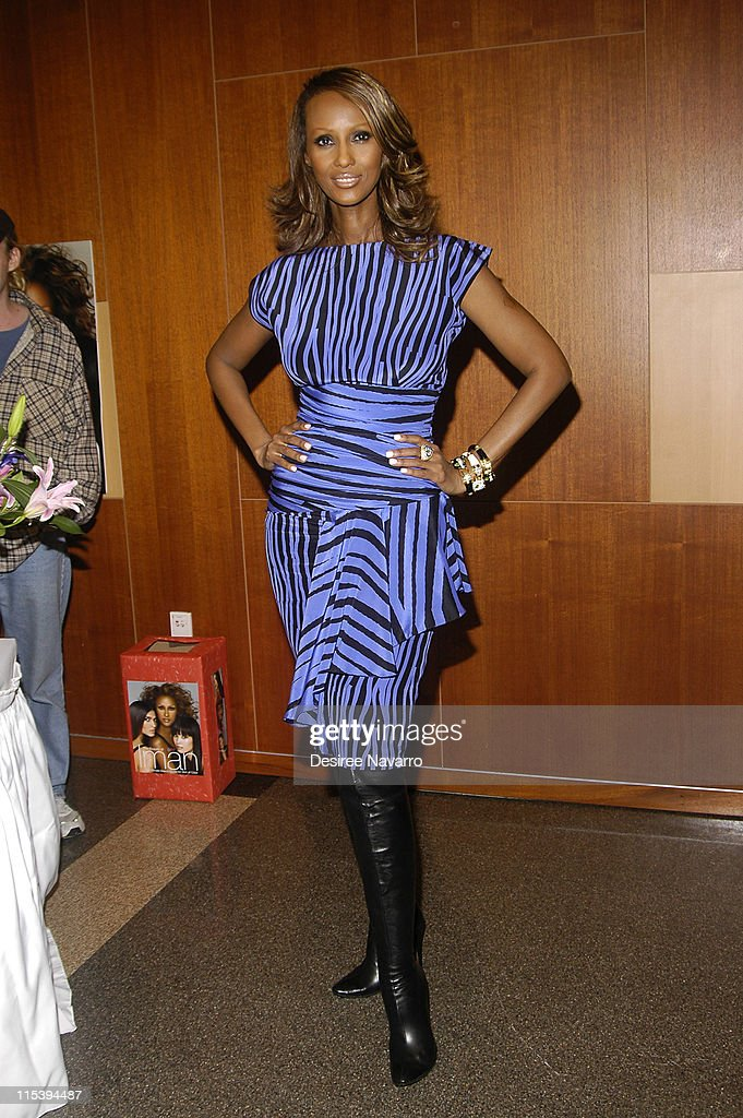 """Iman Signs Her Book """"The Beauty of Color"""" at the Fashion Institute of"""