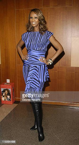 Iman during Iman Signs Her Book The Beauty of Color at the Fashion Institute of Technology in New York City November 15 2005 at Fashion Institute...