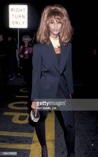 Iman during Lane Davis Designs Party at Roxbury Club in West Hollywood California United States