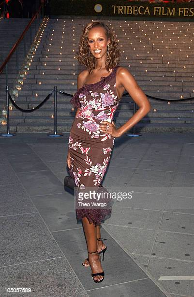 Iman during Vanity Fair Party To Celebrate Launch of 2003 Tribeca Film Festival at The State Supreme Courthouse in New York City New York United...