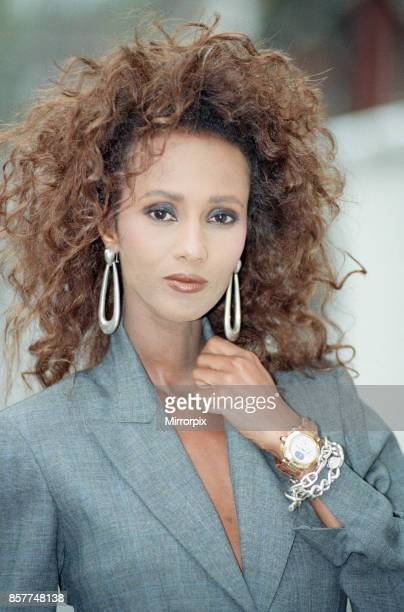 Iman fashion model and actress pictured in London Thursday 26th October 1989