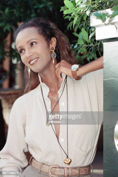 Iman fashion model and actress pictured in London Wednesday 25th October 1989