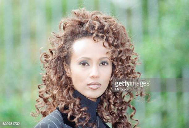 Iman international model and actress in London to promote BBC2 special documentary Somalia A Journey Home about the plight of her people devastated...