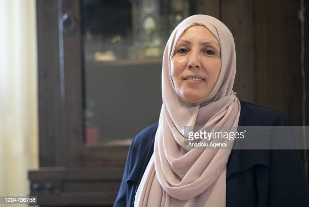 Iman Khatib Yassin Israeli Arab politician and the first woman to represent the Islamic Movement in the Joint List electoral alliance poses for a...