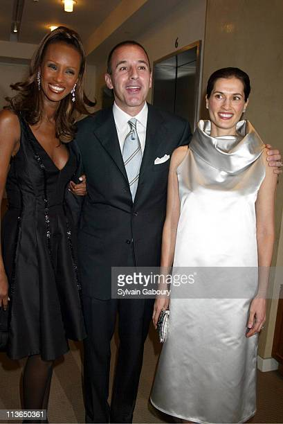 Iman Matt Lauer Annette Roque Lauer during Sotheby's Benefit Audrey HepburnThe Beauty of Compassion at Sotheby's in New York New York United States