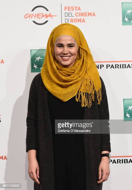 Iman Meskini attends 'Skam' photocall during the 12th Rome Film Fest at Auditorium Parco Della Musica on October 28 2017 in Rome Italy