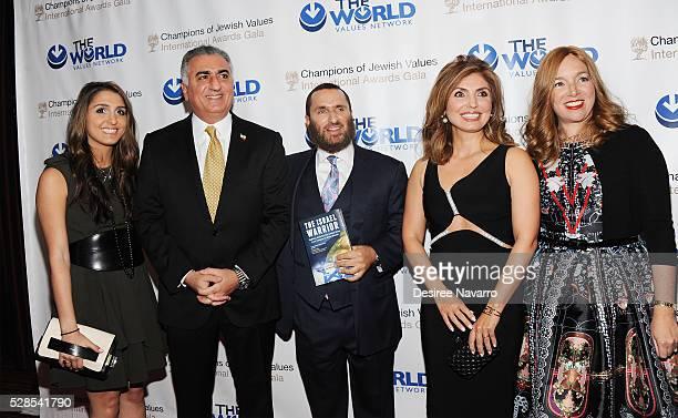 Iman Pahlavi, Crown Prince of Iran, Reza Pahlavi, Rabbi Shmuley Boteach, Yasmine Pahlavi and Debbie Boteach attend the 4th Annual Champions Of Jewish...