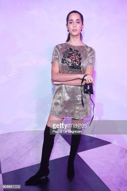 Iman Perez attends Le Bal Surrealiste Dior during Haute Couture Spring Summer 2018 show as part of Paris Fashion Week on January 22 2018 in Paris...