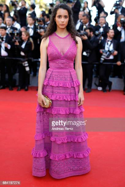 Iman Perez attends the 'Ismael's Ghosts ' screening and Opening Gala during the 70th annual Cannes Film Festival at Palais des Festivals on May 17...