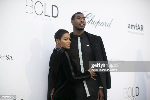 Iman Shumpert and Teyana Taylor arrive at the amfAR Gala Cannes 2018 at Hotel du CapEdenRoc on May 17 2018 in Cap d'Antibes France