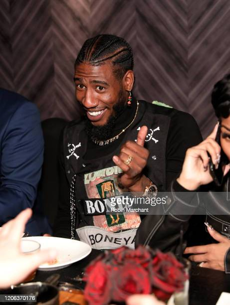 Iman Shumpert attends The Compound and Luxury Watchmaker Roger Dubuis Hosts NBA AllStar Dinner wearing Excalibur 42 automatic Skeleton at STK Chicago...