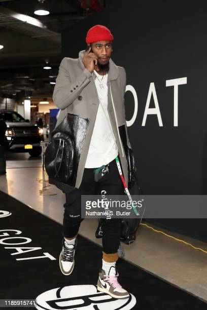Iman Shumpert of the Brooklyn Nets arrives to the game against the Miami Heat on December 1 2019 at Barclays Center in Brooklyn New York NOTE TO USER...