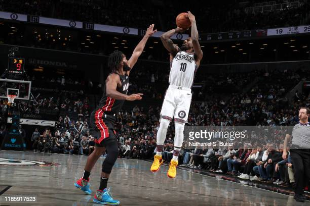 Iman Shumpert of the Brooklyn Nets shoots the ball against the Miami Heat on December 1 2019 at Barclays Center in Brooklyn New York NOTE TO USER...