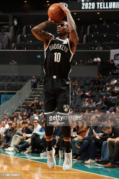 Iman Shumpert of the Brooklyn Nets shoots the ball against the Charlotte Hornets on December 6 2019 at Spectrum Center in Charlotte North Carolina...